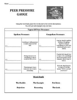 Peer Pressure Worksheets For Middle School by All Worksheets 187 Peer Pressure Worksheets For