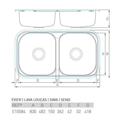 Evier 50 X 50 by 201 Vier Inox 224 Encastrer Lac 2 Bacs 80 X 50 Brico Chemin 233 E