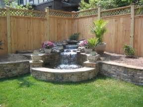 Water Feature Ideas For Small Backyards Image Detail For Wood Privacy Fence Split Rail Fence Picket Fences Outdoor Ideas