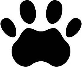 tiger paw print tiger paw print stencil cliparts co