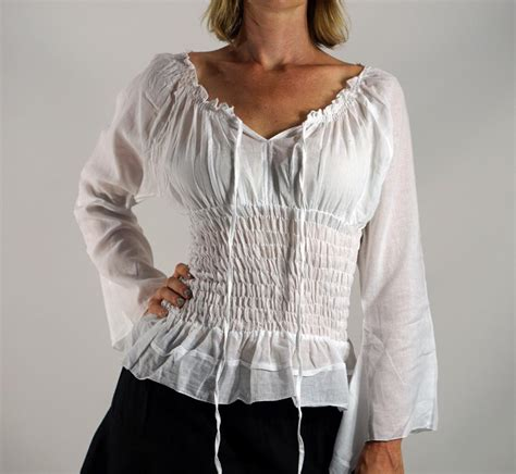 Peasant Blouse peasant blouse for costume smart casual blouse
