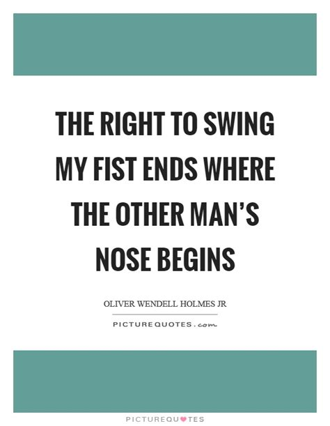 your right to swing your fist ends fist quotes fist sayings fist picture quotes