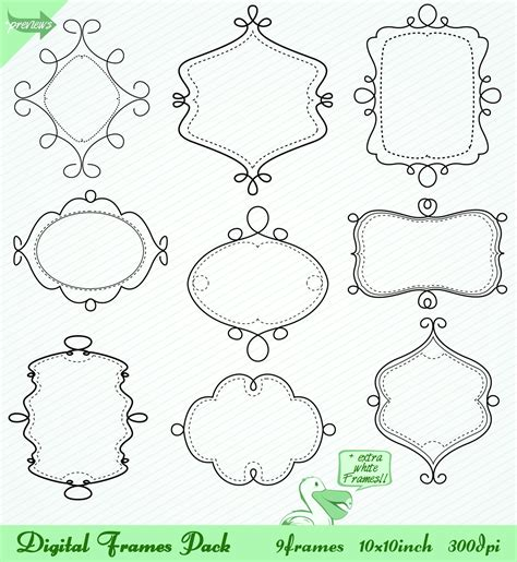 how to create doodle frames doodle sketch frames pack by picturesofpelicans on deviantart