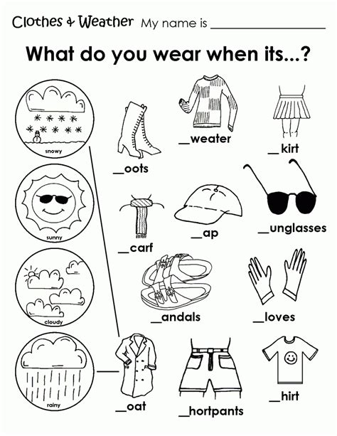 printable coloring pages kinder free coloring pages of clothing worksheet weather coloring