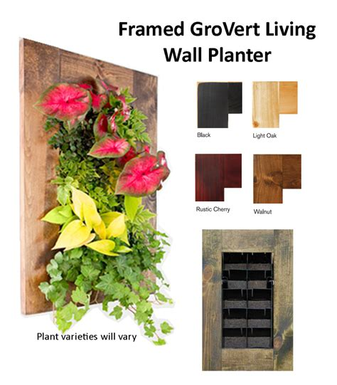 Grovert Living Wall Planter by Primary Statement Framed Grovert Living Wall Planter Edible Walls