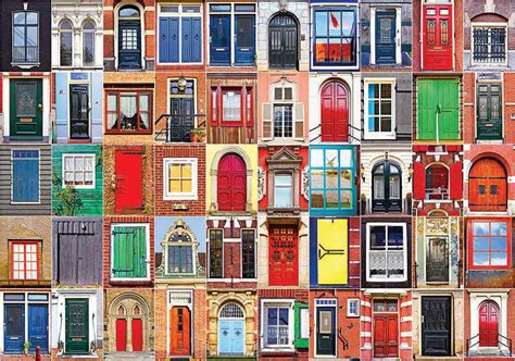 colorful doors jigsaw puzzle puzzlewarehouse com colorful dutch doors and windows colorluxe 1500 jigsaw