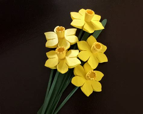 Handmade Wooden Flowers - daffodils wooden flowers handmade proceeds to