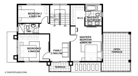 antonio four bedroom modern home plan eplans