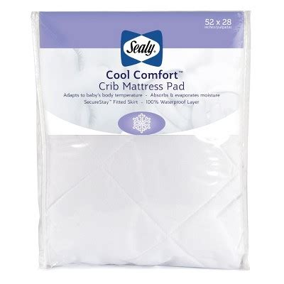 Sealy 174 Cool Comfort Crib Mattress Pad Target