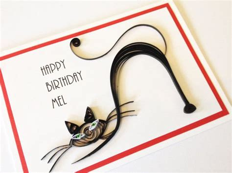 how to make a cat card handmade paper quilled birthday or luck black cat