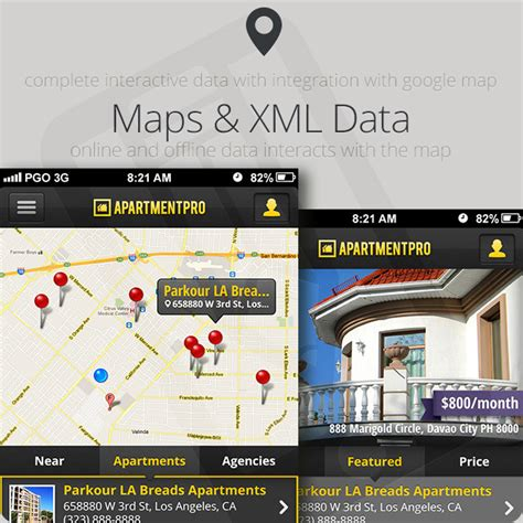 Apartment Map App Apartment Real Estate Iphone App Xcode5 Ios7 By