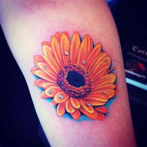 gerber daisy tattoo orange gerbera look at all the pretty