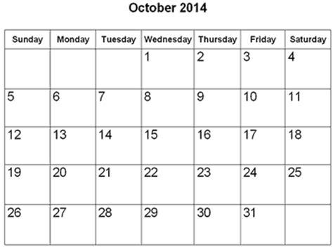blank calendar template october 2014 free printable calendar 2018 october 2014 calendar
