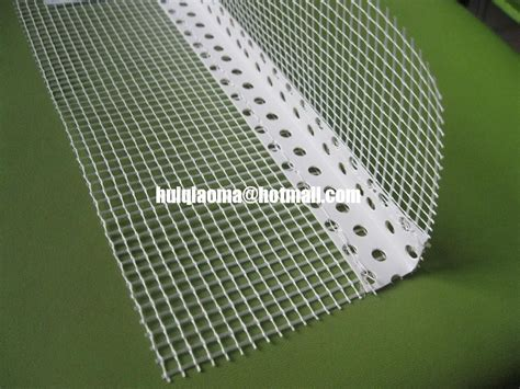plastic angle bead pvc corner bead with fiberglass mesh plastic angle bead
