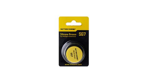 Nitecore Silicone Grease For Flashlights Sg7 No Color 2 78 authentic nitecore sg7 silicone grease for flashlight maintenance 5g at fasttech