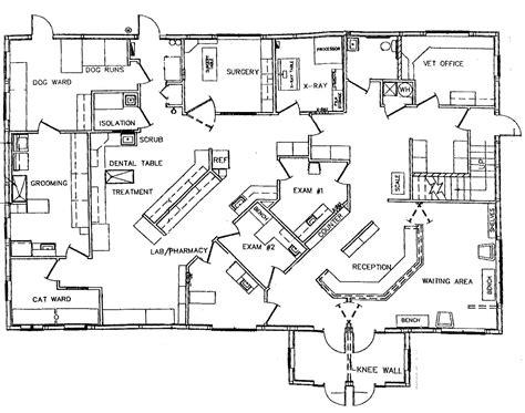 veterinary hospital floor plans small hospital floor plan design