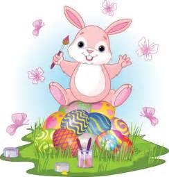 easter bunny eggs clipart