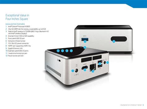 Intel Nuc 6cayh Barebone No Memory No Hdd diy bundle deal intel celeron n2820 nuc barebone 8gb