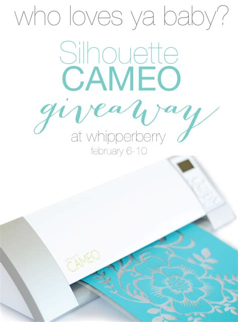 Silhouette Cameo Giveaway - silhouette designer edition promo cameo giveaway whipperberry
