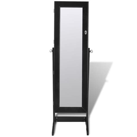 jewellery mirror cabinet with led lights black free standing jewelry cabinet with led light and