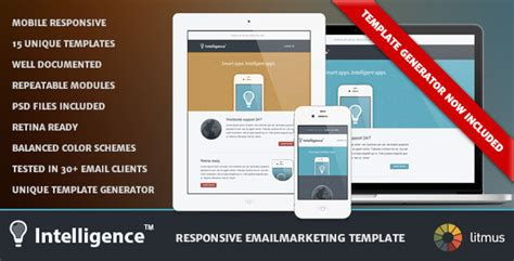Intelligence Responsive Emailmarketing Template By Fabioth Themeforest Envato Email Templates