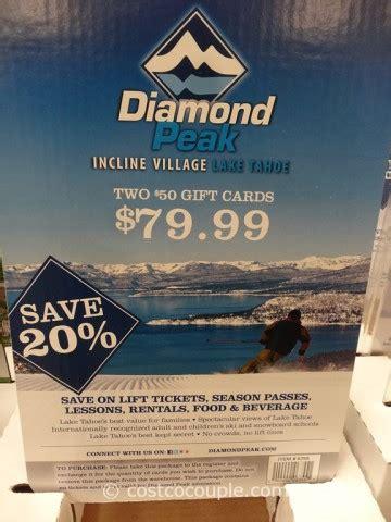 diamond peak gift card