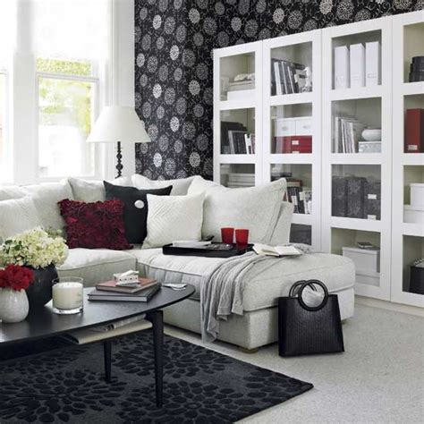 black white red living room black and white living room design and ideas