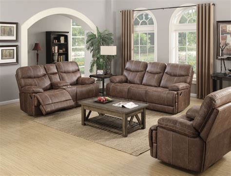 microfiber living room set earl sanded microfiber brown reclining living room set