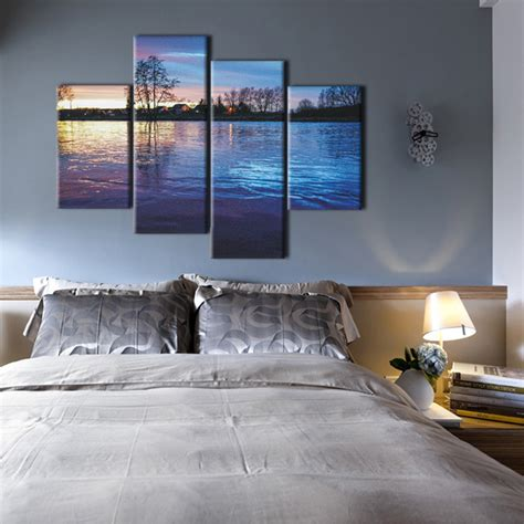 bedroom canvas art wall art designs horizontal wall art muti panel nature