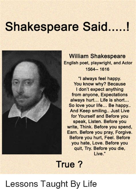 William Shakespeare Biography Essay At by Shakespeare Said William Shakespeare Poet Playwright And Actor 564 1616 I Always Feel