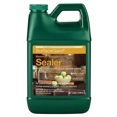 Home Depot Products by Custom Building Products Tilelab Surfacegard 1 2 Gal Penetrating Sealer Tlsgsrahg The Home Depot