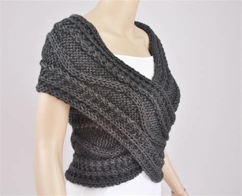 knit sweater vest knit sweater vest cross sweater capelet neck warmer scarf