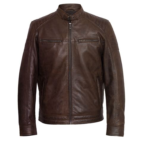 leather biker jackets for sale budd men s brown leather jacket hidepark leather