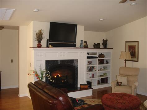 Built In Shelving Next To Fireplace Home Project Shelves Next To Fireplace