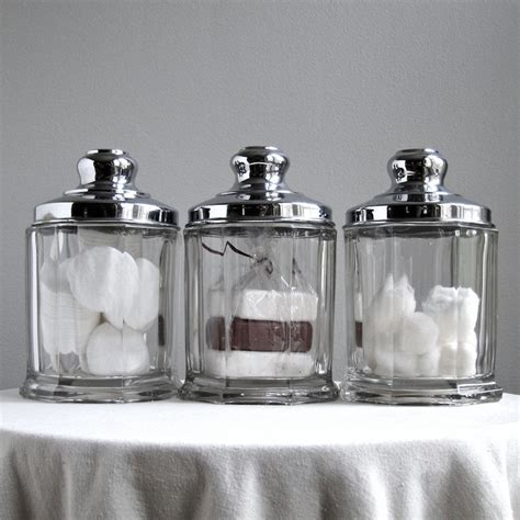 glass kitchen storage canisters three vintage glass and chrome storage canisters kitchen