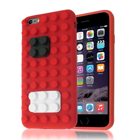 Casing Iphone 6 6s 3d Apple And X Custom Cover 3d building lego brick blocks silicone stand cover for iphone 6 6s plus ebay