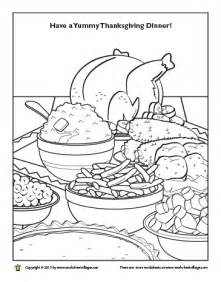Your Little One Will Have A Great Time Coloring This Turkey Dinner  sketch template