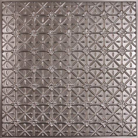 Ceilume Continental Faux Tin 2 Ft X 2 Ft Lay In Or Glue Sted Tin Ceiling Panels