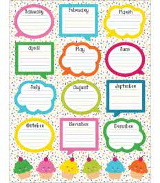 birthday chart template for classroom school pop birthday chart grade pk 5 carson dellosa