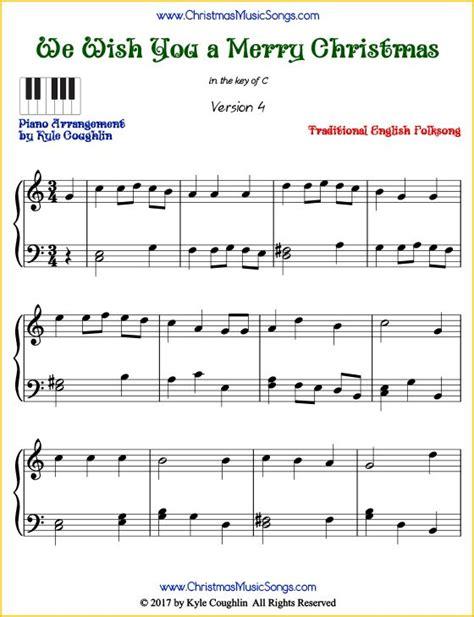 merry christmas intermediate piano sheet   printable   www