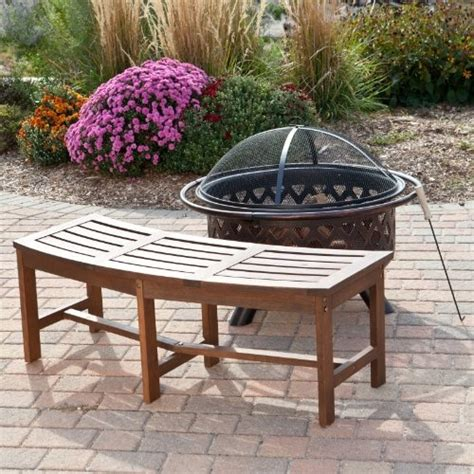 outdoor curved fire pit bench curved outdoor bench for the home exterior pinterest