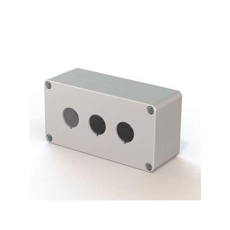 cassetta in plastica cassetta in plastica 3 fori per pulsanti e selettori