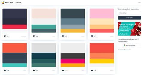 color hunt 20 best color palette generators and galleries for designers