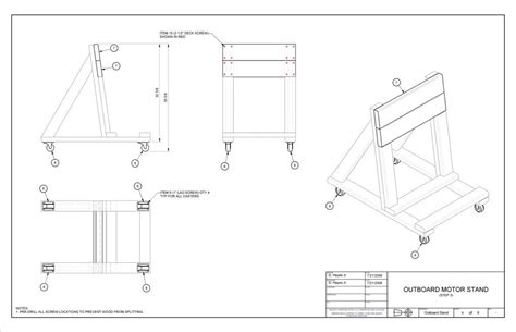 small boat motor repair building an o b motor stand instructional page 1