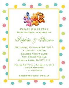 winnie the pooh and friends baby shower invitations 5x7