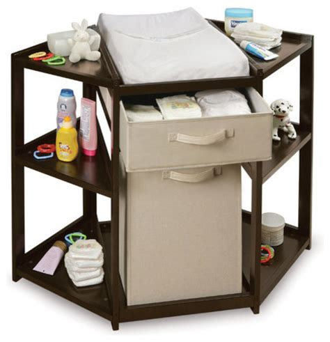 Corner Baby Changing Table Corner Baby Changing Table With Her And Basket Modern Hers
