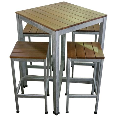 Outdoor Bar Table Outdoor Bar Table Hayman Outdoor High Bar Table Stainless Steel And Teak Wood Couture Designer