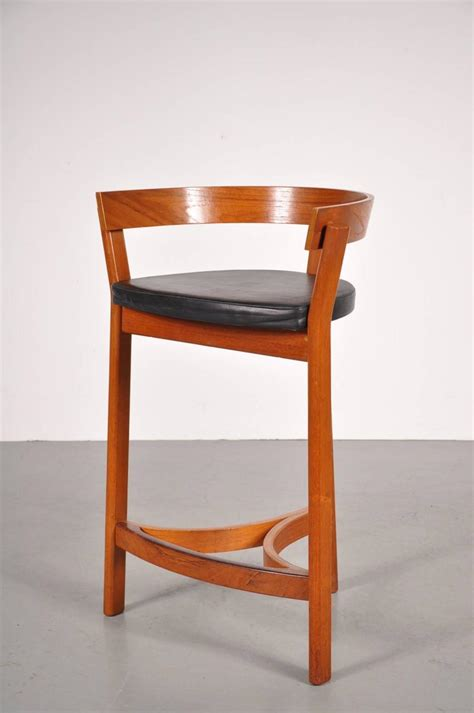 Danica Furniture by Set Of Three Bar Stools By Oddense Maskinsnedkeri A S Domus Danica Circa 1950 For Sale At 1stdibs