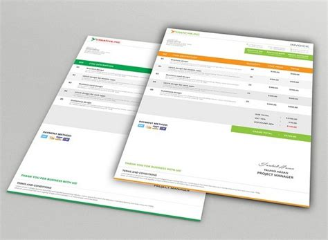 invoice design psd free download free modern company invoice mockups psd titanui