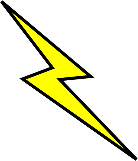 Lightning Bolt Character Lightning Bolt Clip At Clker Vector Clip